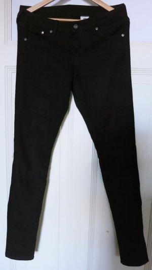 H&M Pantalone a vita bassa nero Cotone