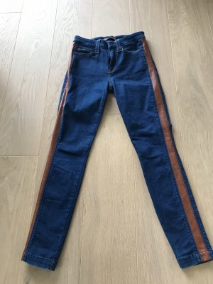 7 For All Mankind Jeans skinny bleu-cognac