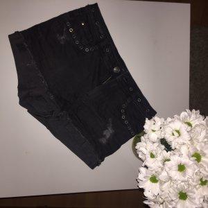 Clockhouse Pantalón corto de tela vaquera gris antracita