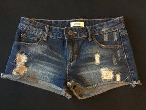 Jeans Short dunkelblau