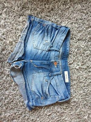 Jeans-Short mit Fransen
