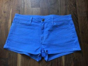 American Apparel Pantalón corto de tela vaquera azul neón