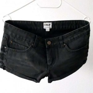 Asos Denim Shorts nero-antracite