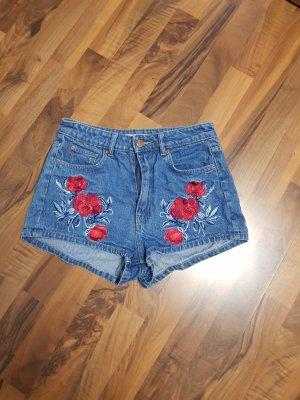 H&M Pantaloncino di jeans blu