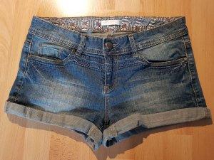 Promod Pantalón corto de tela vaquera azul