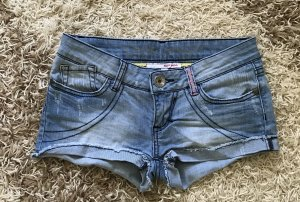 Jeans Shorts blau Gr. 36 34 XS Tally Weijl Destroyed Jeans Denim