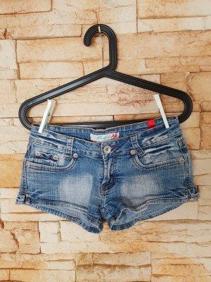 Hot pants blauw-donkerblauw
