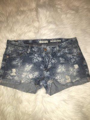 Jeans Shorts Denim Hot Pants Blumenprint Gr. 38