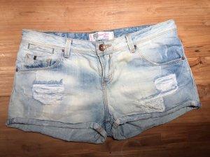 TRF Denim Pantalón corto de tela vaquera azul