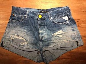 Replay Pantalón corto de tela vaquera azul