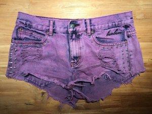 Pantalón corto de tela vaquera violeta