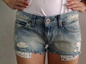 Fuga Denim Shorts cornflower blue