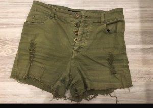FB Sister Denim Shorts olive green