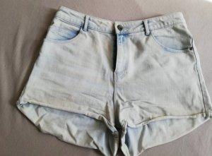 Zara Trafaluc Denim Shorts light blue
