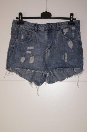 Jeans-Shorts, High-Waist Shorts, Destroyed/ Zerrissene Jeans-Hotpants von H&M