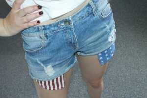 Jeans shorts / Hotpants destroyed / USA