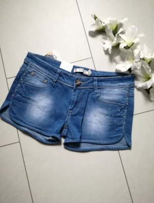 Jeans Shorts Hotpants Strass Kurze Hose Pants Jeansshorts