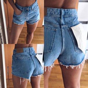 Jeans Shorts Jeansshorts Kurze Hose Zara Highwaist