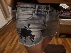 AJC Denim Shorts black-pale blue