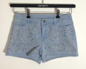 Jeans Shorts mit Glitzer