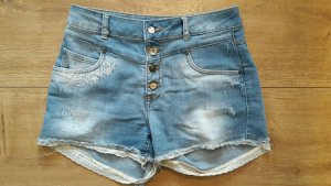 Jeans Shorts mit hoher Taille