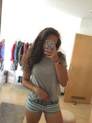 Jeans Shorts mit Spitze