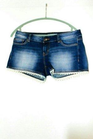 Jeans Shorts mit Spitze von Tom Tailor