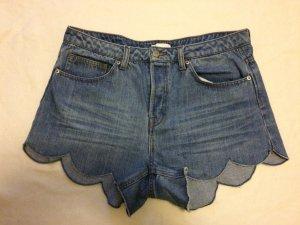 Jeans-Shorts mit Wellenkante