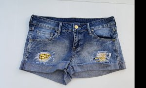 Jeans Shorts Nieten gold