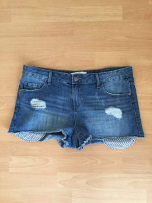 Jeans Shorts Pieces im Used Look