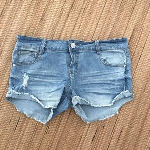 Short en jean multicolore