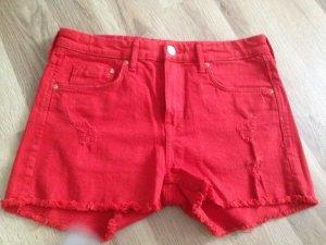 H&M Denim Shorts red