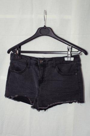 Jeans Shorts schwarz-grau