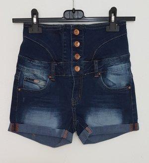 Toxik3 Pantaloncino di jeans multicolore