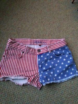 Jeans Shorts USA Flagge Gr. S NEU ungetragen!