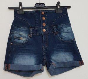 Toxik3 Pantaloncino di jeans blu-blu acciaio