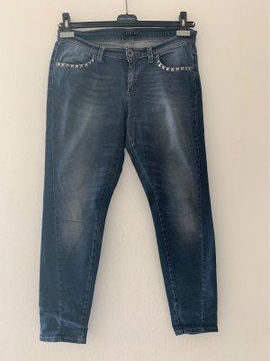 Sisley Jeans a 7/8 blu scuro-blu pallido