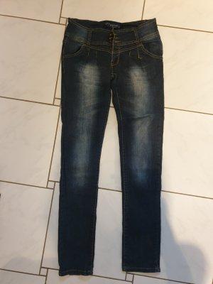 Pantalone a sigaretta blu-blu scuro
