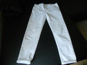 High Waist Trousers white cotton