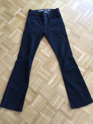 Jeans Skinny Flare H&M Divided 36 ripped