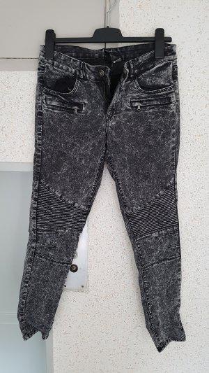 jeans skinny grau schwarz gr. 40