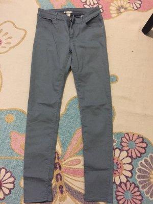 Jeans, skinny h&m, 38, taubengrau