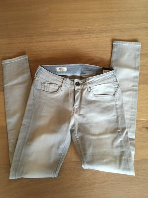 Jeans Skinny Hose hellgrau silber glänzend Pepe Jeans W30 L32 NEU
