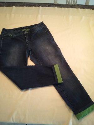 Jeans, Skinny, innen grün