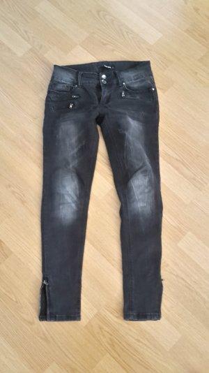 Jeans Skinny Low Waist Biker Röhre Reißverschluss Slim Fit Stretch
