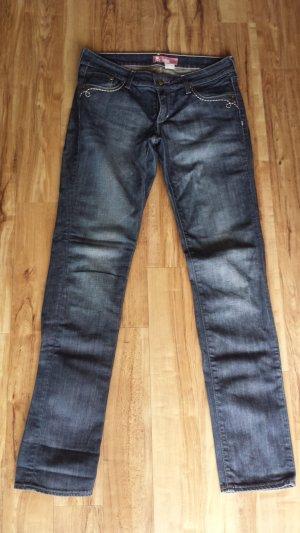 Jeans skinny Röhrenjeans used look