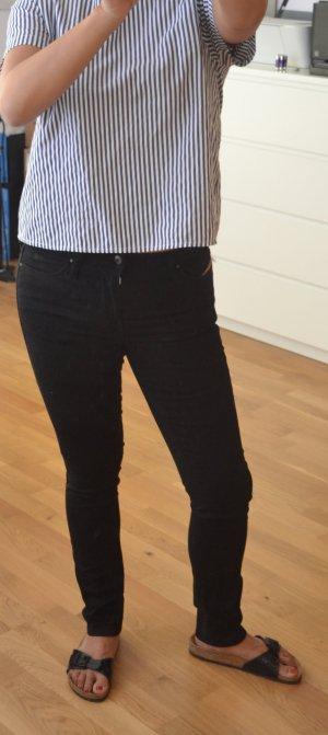 Diesel Pantalón de tubo negro Algodón