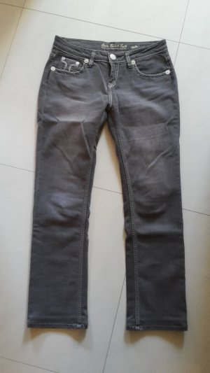 Amor, Trust & Truth Straight Leg Jeans dark grey