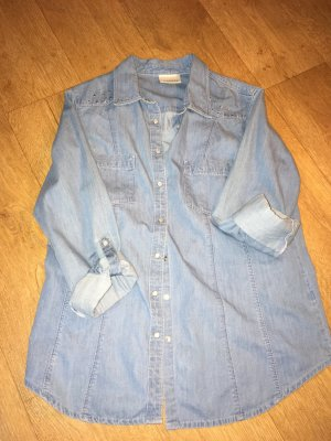 Jeans Stoff Bluse