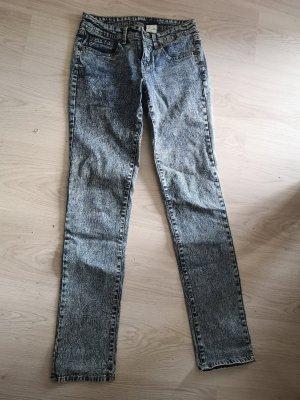 Jeans met rechte pijpen staalblauw-korenblauw